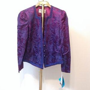 Designer Vintage Ombre Embroidered Blazer Jacket